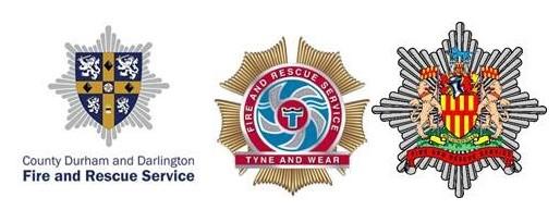 three fire service logos