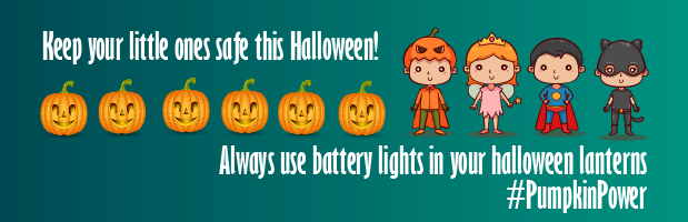 safety banner for Halloween