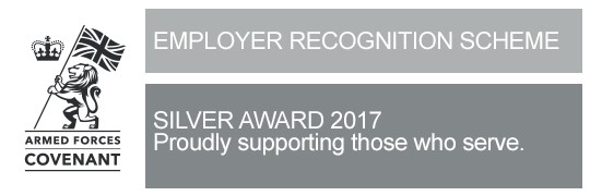 MoD's Employer Recognition Scheme - Silver Awards 2017