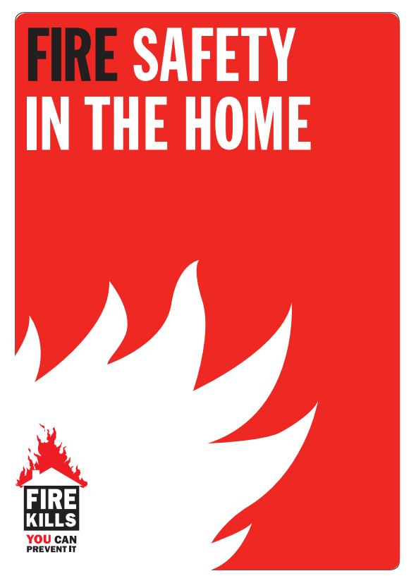 cover of the fire safety in the home leaflet