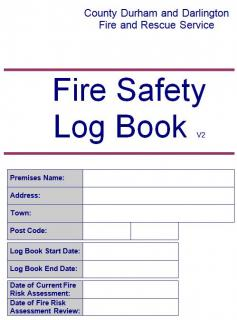 Guidance documents county durham and darlington fire and for Fire alarm log book template