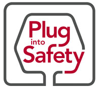 plug into safety logo