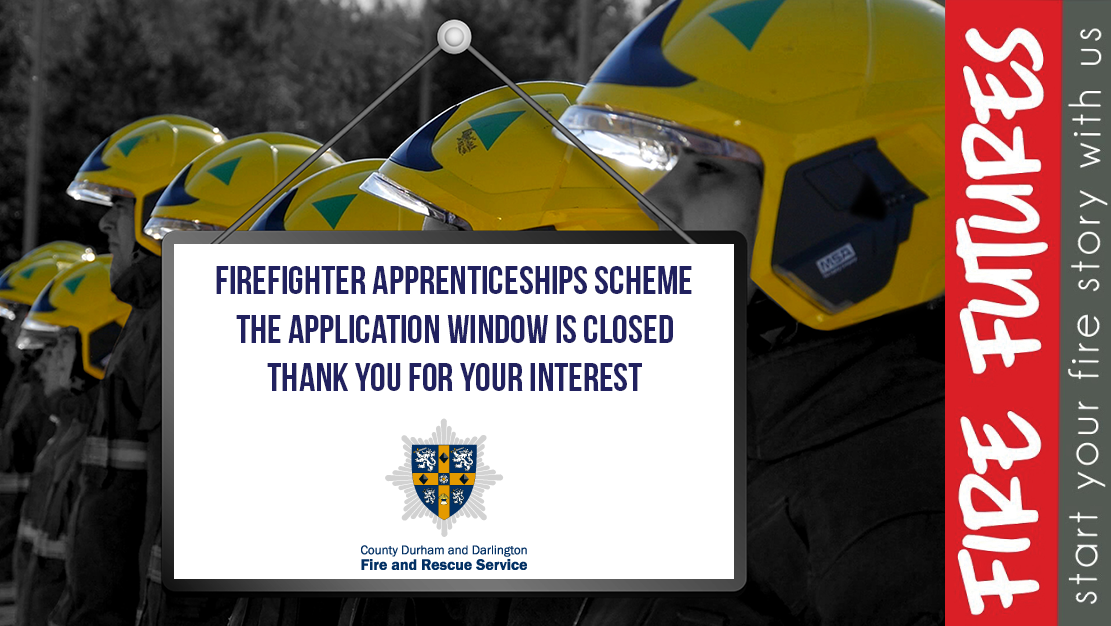 applications for firefighters apprentice scheme is now closed